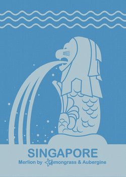 Singapore Merlion Kitchen Towel - Shop Home decor, Kitchenware, Fragrances, Scents, and more online!