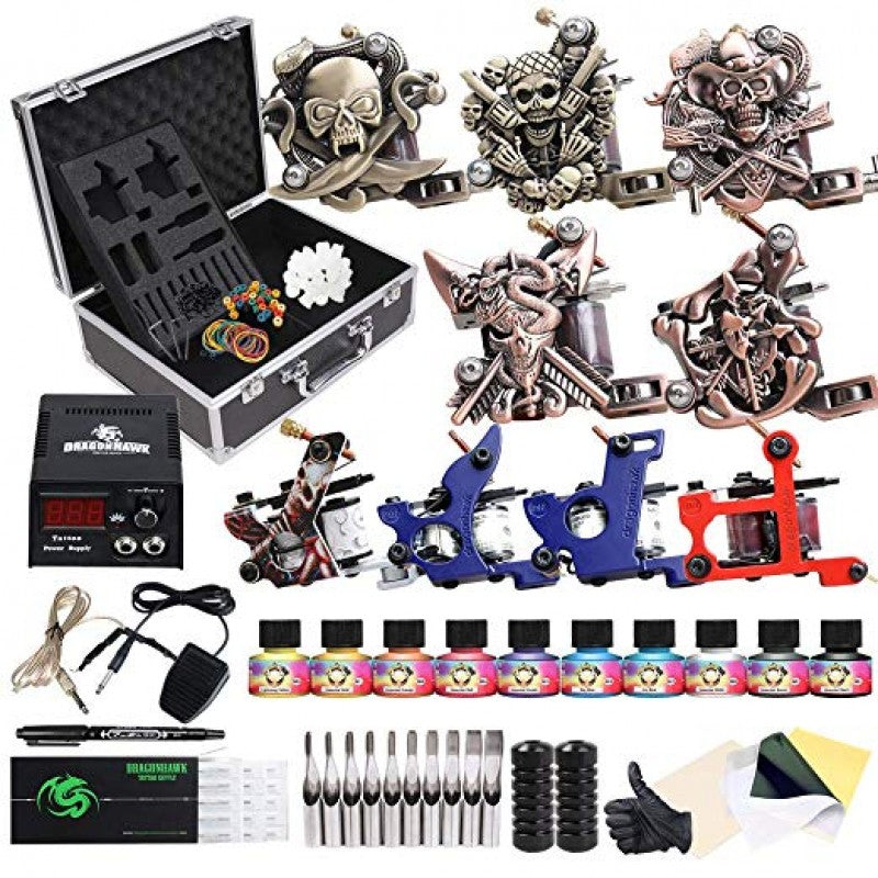 Complete Tattoo Kit 9 Machines Immortal Inks D23