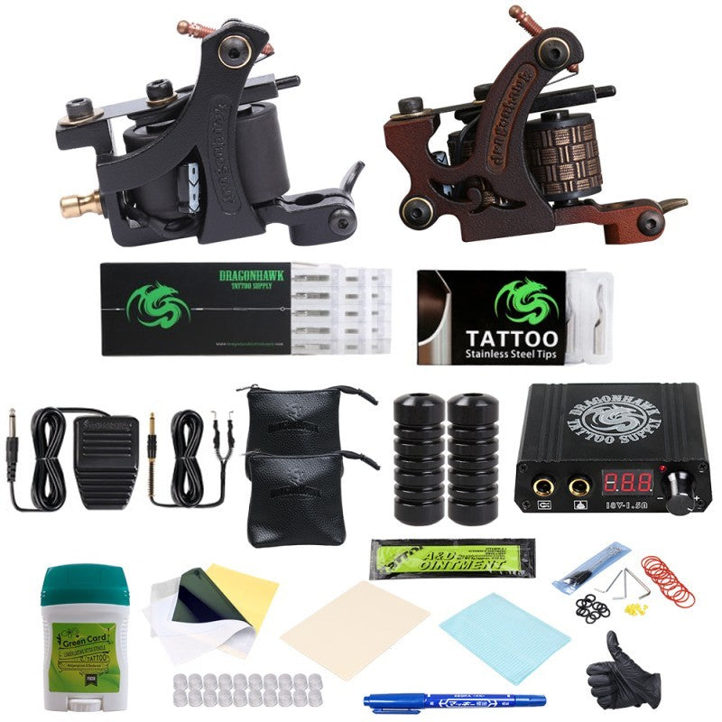 Beginner Complete Tattoo Kit 2 Machines Power Supply