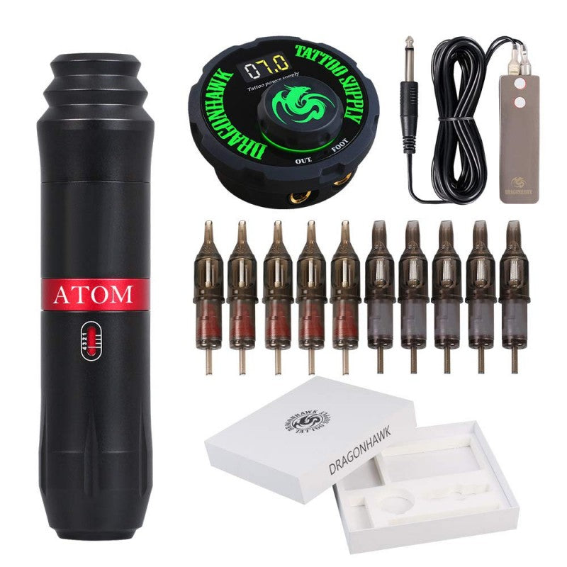 Atom Cartridge Tattoo Machine Kit Pen Rotary