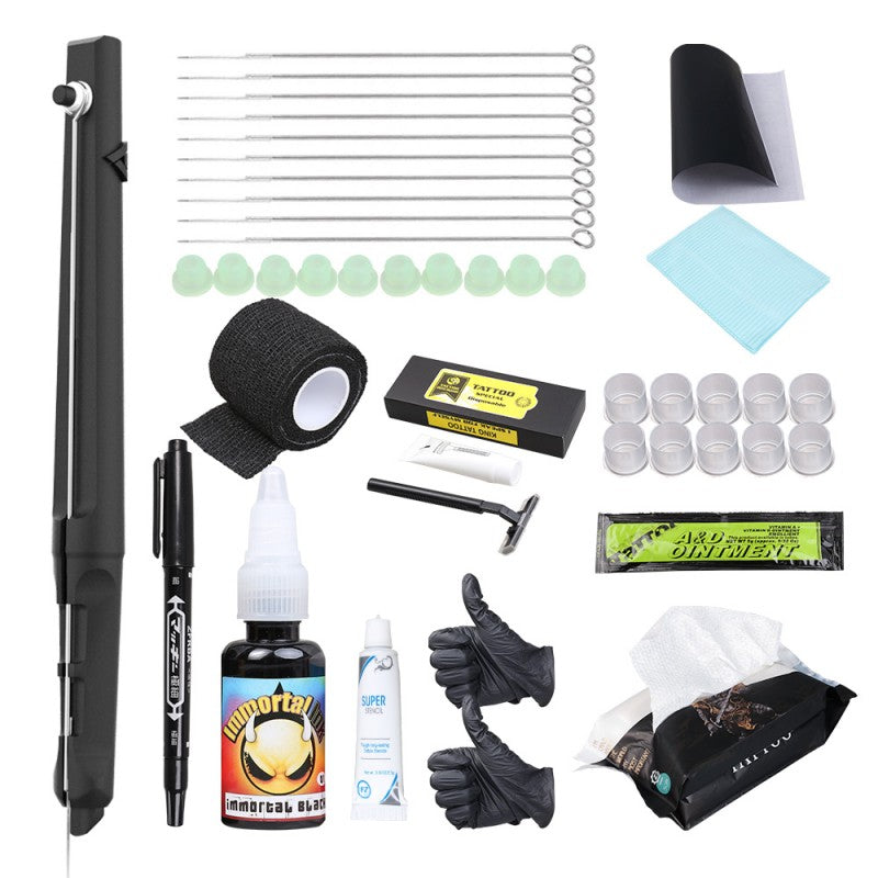 Hand Poke and Stick DIY Tattoo Kits Black Color Tattoo Needles Grip Cover Wrap