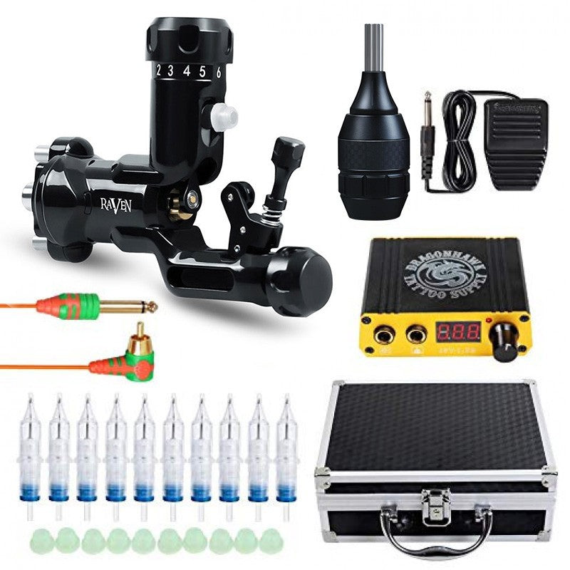 Raven Rotary Tattoo Machine Kit TZ555-6Y
