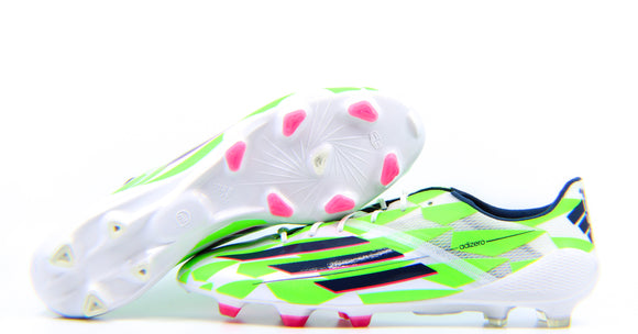 Adidas F50 Adizero FG Core White/Rich Blue/Solar Green (M17679)