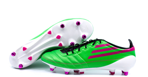 Adidas F50 Adizero XTRX SG Leather Intense Green/Pink/Black (G41286)