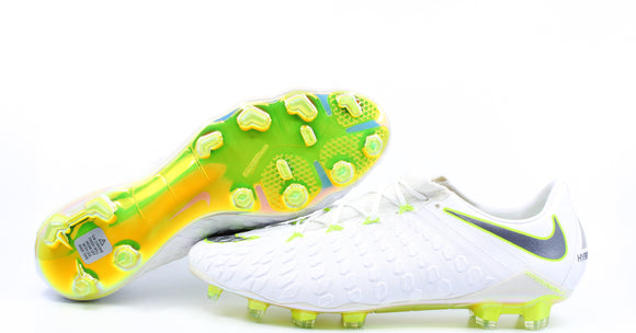 Nike Hypervenom Phantom 3 FG White/Metallic Cool Grey/Volt (AJ3805-107)