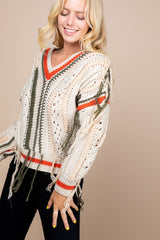 Colorblock Pompom Sweater