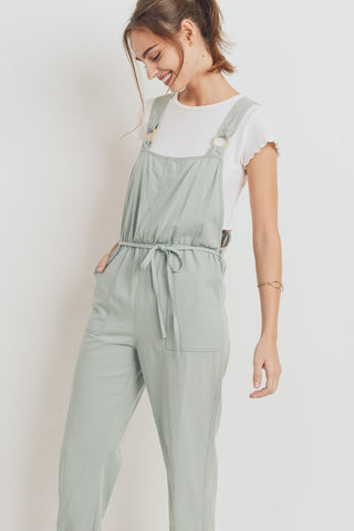 Wooden Eyelet Crossed Back Overall