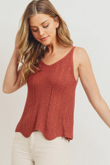 Scallop Sweater Cami Top