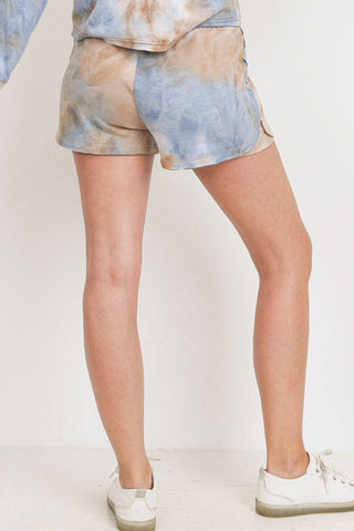 Baby Fleece Tie Dyed Raw Edge Shorts