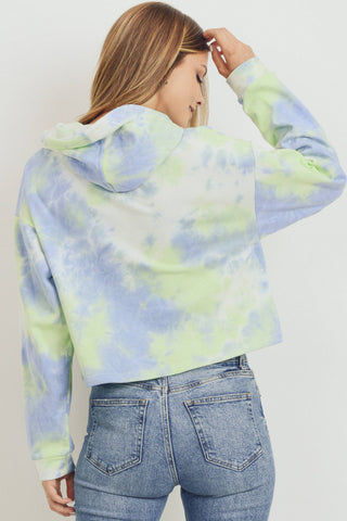 Tie Dye French Terry Hood Long Sleeve Top