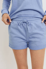French Terry Side Pockets with Front String Shorts