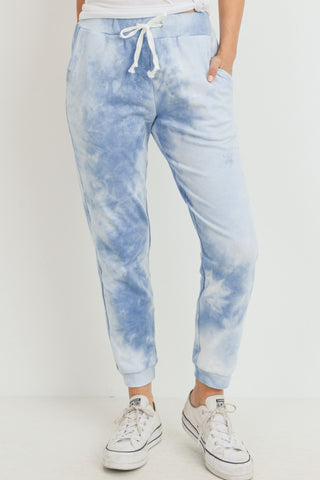 Tie Dyed French Terry Side Pockets Jogger Pants