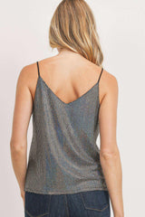 Iridescent Glitter Sequence Tank Top