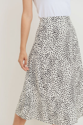 Animal Printed Midi Skirt