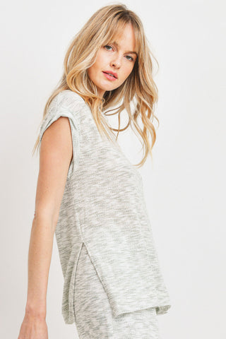 Cap Sleeves Burnout Tunic with Slits