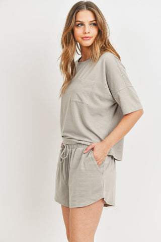 Drawstring Side Pocket Shorts