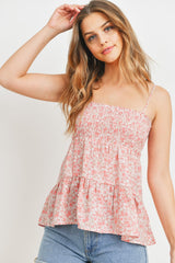 Smocked Tiered Babydoll Floral