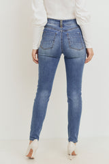 Sustainable Destructed Skinny - Med Blue