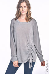 Hacci Ruched Drawstring Top XS-S-M-L