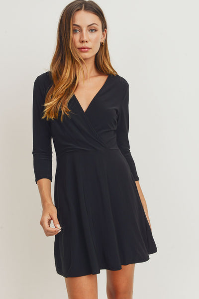Surplice V-Neck Dress