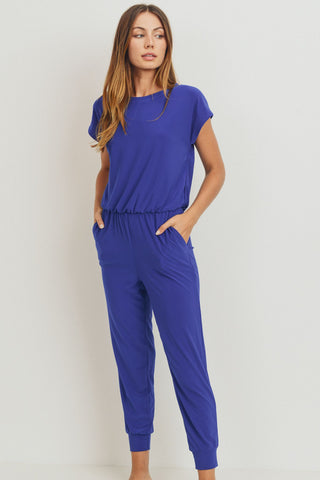 Cap Sleeve Wide Leg Jumpsuit