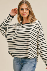 Round Neck Stripe Top