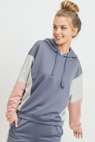 Color Blocked Hoodie