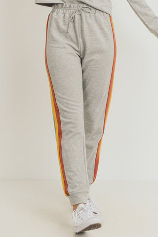 French Terry Color Contrast Pants