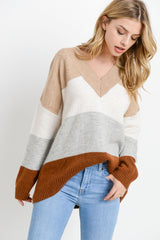 Knit Colorblock Sweater