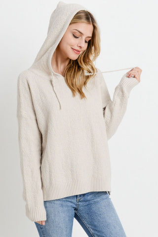 Knit Long Sleeves Hoodie
