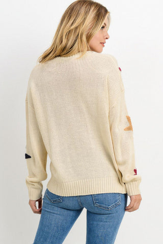Knit Sweater With Star Detail