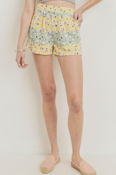 Printed Terry Short Pants