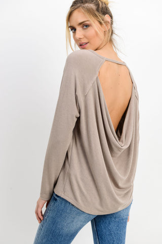 Knit Strap Open Upper Back Top