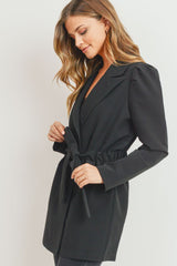Belled Puff Sleeve Blazer