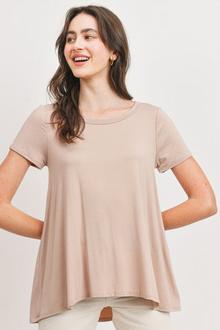 Back Out Short Sleeve Top