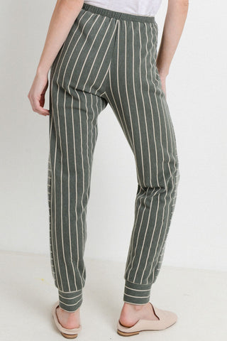 Brushed Stripe Pants