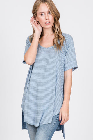 Striped Long Body Top