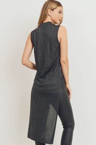 High Low Mock Knit Tank Tunic