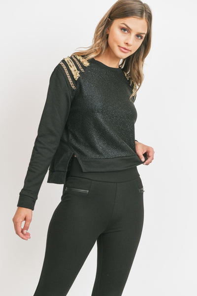 Chain Trim Sweater