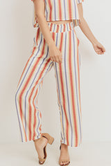 Printed Woven Smocking Waist Wide Pants