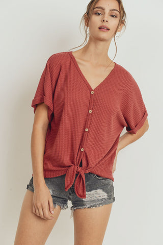Twisted Front Tied Top