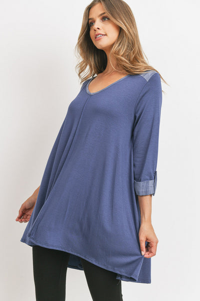 Modal Three-quarter Sleeve Top