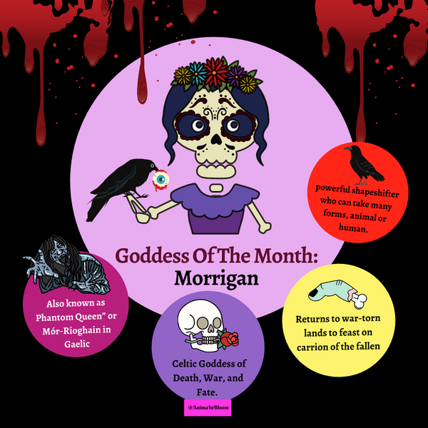 Anima In Bloom Goddess of the Month: Morrigan, Celtic Goddess of Death