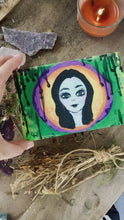 Load and play video in Gallery viewer, Hand Painted Morrigan Mini Altar Box & Gift Set