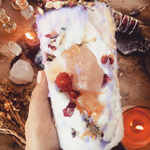 Fairy Hollow Candle with Rose Quartz & Citrine