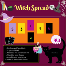Load image into Gallery viewer, Spooky Themed Tarot Spread Pack of 8!