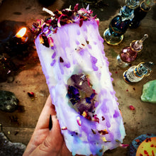 Load image into Gallery viewer, Water Sign Amethyst Mini Spell Candle