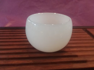 "De Hua Jade Porcelain ""Rounded"" Yu Ci White Cup for Tea"
