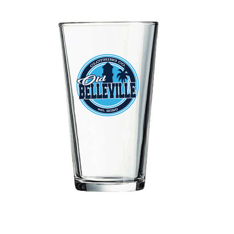 Old Belleville logo pint glass