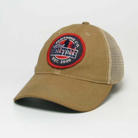 Old Belleville logo mesh hat- Light Brown